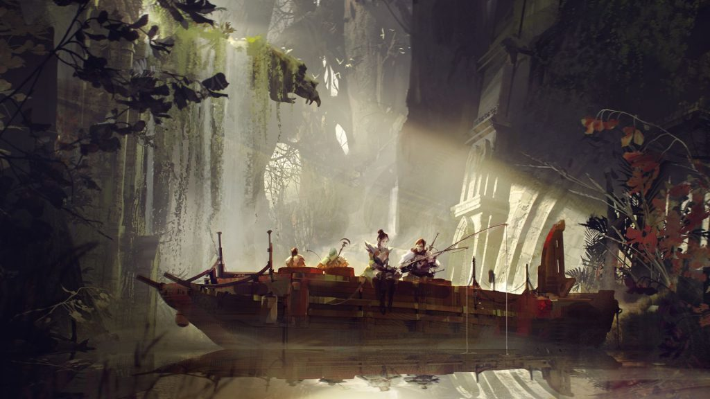 Guild Wars 2: End of Dragon - Concept Art Fishing