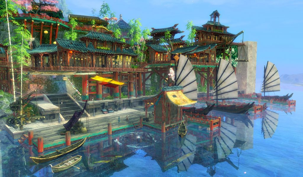 Guild Wars 2: End of Dragon - Concept Art Shing Jea Map